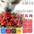 犬用 生肉 冷凍 馬肉 小分けトレー 1kg  500gセット×2  初回限定送料無料 スターターパック