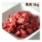 犬用 生肉 冷凍 馬肉 粗挽き 3kg  500gパック入り×6