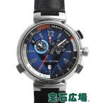 ルイ・ヴィトン LOUIS VUITTON タンブール ルイ・ヴィトンカップ レガッタ ネイビー Q102D0 中古  メンズ 腕時計