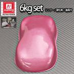 関西ペイントPG80 ピンクメタリック 粗目 6kg セット(シンナー/硬化剤/道具付) 自動車用ウレタン塗料 2液 カンペ ウレタン 塗料