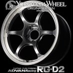 YOKOHAMA ADVAN Racing RG-D2 RGD2 アルミホイール 18×9.5J 5/114.3 +12 マシニング&レーシングハイパーブラック