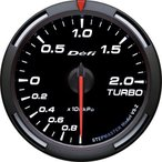 デフィ メーター レーサーゲージ (Racer Gauge) Φ60 ホワイト ターボ計 -100kPa〜+200kPa DF11506 送料無料