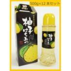 マン・ネン 果汁入り!柚子はちみつ 500g×12本セット 0802001