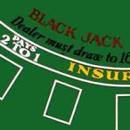 カジノゲームの必須アイテム【ゲームマット】ブラックジャックレイアウト G142-3