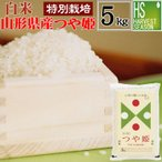5kg つや姫 山形県産 精白米 白米 令和元年産  特別栽培米 送料無料