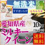新米 29年産 無洗米 5kg×2袋 ミルキークイーン 愛知県産 10kg 送料無料