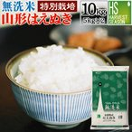無洗米 10kg 5kg×2袋 はえぬき 山形県産 特別栽培米 28年産 送料無料