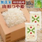 新米 無洗米 つや姫 5kg×2袋 山形県産 10kg 29年産 送料無料 特別栽培米 特A