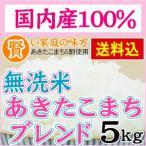 無洗米 あきたこまちブレンド 5kg 送料無料 国内産100%