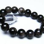 パワーストーン 天然石 モリオン 純天然 黒水晶 ブレスレット14mm t112-2595