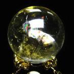 パワーストーン 天然石 虹入りシトリン水晶丸玉29mm t294-2412