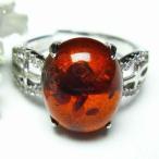 パワーストーン 天然石 レッドアンバー 赤琥珀指輪 t746-2361