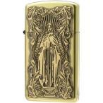 (送料無料)ZIPPO(ジッポー) オイルライター ディープエッチング アラベスクマリア スリム 真鍮いぶし 63210298
