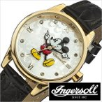 インガソール腕時計 INGERSOLL時計 INGERSOLL 腕時計 インガソール 時計 ディズニー ミッキー Disney MICKEY メンズ レディース シルバー MICKEY-DIN005GDBK