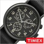 タイメックス 腕時計 TIMEX 時計 ウィークエンダー クロノ Weekender Chrono 40mm メンズ 腕時計 ブラック TW2P62200