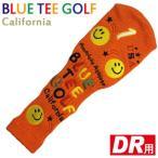 BLUE TEE GOLF ブルーティーゴルフ ニットヘッドカバー スマイル オレンジ ドライバー用 460cc対応 ゴルフヘッドカバー ゴルフコンペ景品 コンペ賞品 景品 賞品