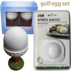 おもしろゴルフエッグセット  エッグシェイパー ゆでたまご型&エッグホルダー ゴルフコンペ景品 コンペ賞品 ギフト プレゼント