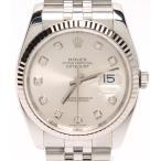 美品 ロレックス 腕時計 新ダイヤ 10P ルーレット デイトジャスト 116234G 自動巻き ROLEX メンズ  中古