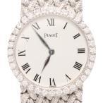 ピアジェ 腕時計 926 手巻き K18 WG ダイヤベゼル ホワイト文字盤 PIAGET レディース  中古
