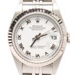 ロレックス デイトジャスト 79174 自動巻き K番 腕時計 SS×WG ローマン ホワイト AT ROLEX レディース  中古