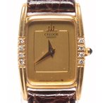 セイコー 腕時計クレドール 8420-6330 クォーツ 18K ダイヤ YG ゴールド  SEIKO レディース  中古