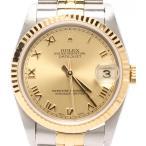 ロレックス 腕時計 シャンパン ローマ デイトジャスト 78273 自動巻き ゴールド ROLEX メンズ  中古