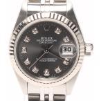 美品 ロレックス 腕時計 デイトジャスト ダイヤ デイトジャスト 69173G 自動巻き ROLEX レディース  中古