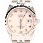 美品 ロレックス 腕時計 アラビア ピンクシェル デイトジャスト 16234NA 自動巻き ピンク ROLEX メンズ  中古