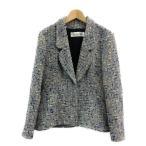 美品 クリスチャンディオール ツイード テーラードジャケット レディース SIZE 42 (M) Christian Dior 中古