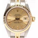 ロレックス 腕時計 オイスターパーペチュアル デイトジャスト 自動巻き ゴールド ROLEX レディース  中古