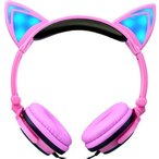 Yahoo!1storehomeキッズ ヘッドホン女の子ヘッドホン 折りたたみ式猫耳 素敵なギフト LEDライトつき ステレオ 猫の耳造型 超かわいい男の子7色選択