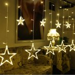 屋内外装飾用 クリスマス 結婚式、学園祭、ガーデンパーティーイルミネーション 星型 LED星イルミネーションライト 3M 12星