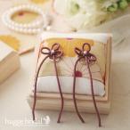 ショッピングリングピロー 和風リングピロー 菊友禅 完成品 桐箱 和 ウエディング 結婚式 神前式