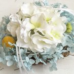 あじさいのリングピロー 完成品 ウエディング 結婚式 プリザーブドフラワー サムシングブルー ジューンブライド