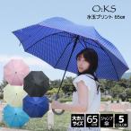 【送料無料】fancy rain O:KS 水玉 プリント 65cm ジャンプ 傘 8本骨 婦人 レディース 女性用 ドット 長傘 BIG 大きい 大きめ 65センチ プレゼント おしゃれ