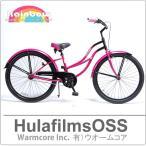 ビーチクルーザー自転車、レインボー、26インチ(ピンク/ブラック)