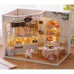 Yahoo!ファンシーアクセのHumming・Fドールハウス キット ケーキ DIY DIYキット 手芸 猫 ハンドメイド カフェ 手作りキット 宿題 夏休み 模型 980326