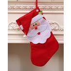 クリスマス プレゼント用 靴下 お部屋 や 店舗 の 装飾 にも最適 サンタさん の プレゼント LED バッジ ソフトジッパー遮光防水バッ