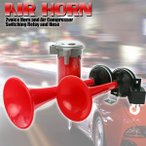 専用コンプレッサー付き エアーホーン エアー式 クラクション エアホーン デュアルカーホーン 音量 110d コンプレッサー