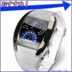 Yahoo!HURRYUPハリーアップスピードメーターデザイン LEDデジタル腕時計 カレンダー表示 デジタルウォッチ デジタル表示 LED腕時計 スピードメーター風 デジタル 腕時計 メンズ
