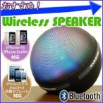 Bluetooth ワイヤレス スピーカー ハンズフリー MP3 オーディオ microSD USB MP3プレーヤー 通話 マイク内蔵 LED内蔵 イヤホン LEDライト搭載