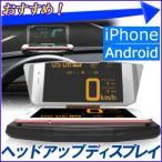 車用 ヘッドアップディスプレイ スマホ スマートフォン iPhone HUD 画面反転 車載ホルダー 反射板 自動車 ダッシュボード 設置 後付け パネル
