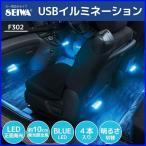 イルミネーション 車 USB LED 6個 4本入り フリースタイルイルミ4 F302 セイワ イルミネーションライト 軟質素材 薄型