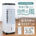 冷風機 冷風扇 扇風機 タワーファン 小型 3l タイマー 風量切替 冷風 リモコン キャスター付き 首振り 暑さ対策 熱中症対策 夏 夏物処分