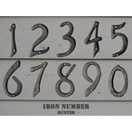 DULTON(ダルトン) IRON NUMBER RUSTED アイアンナンバー ラステッド 0〜9 ビス2本付