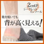 靴を脱いでも安心 シークレットシューズの弱点を克服する 衝撃吸収 メンズ レディース シークレットインソール 中敷き 低反発 かかと 靴下 エア