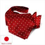 日本製 ポケットチーフ・アスコットタイ2点セット メンズフォーマル 日本製 結婚式 ブライダル パーティー ビジネス ブランド チーフ ボウタイ ドット