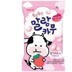 【韓国限定】マルランカウ ふわふわカウ チューイング キャンディー いちごミルク味