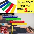 トレーニングチューブ フィットネス ダイエット エクササイズ 体幹 強度別 強度違い ゴムバンド ループ ヒップアップ 美尻 5本セット