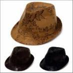 ショッピング和柄 和柄 中折れ帽子 ハット メンズ アウトドア ハット レディース 秋冬 送料無料 粋な光沢感 スエード調中折れハット 全3色 hat-758